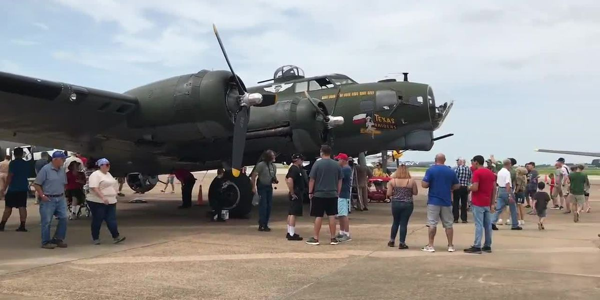 WEBXTRA: People view the B-17 Flying Fortress at Tyler Airport Warbird Expo