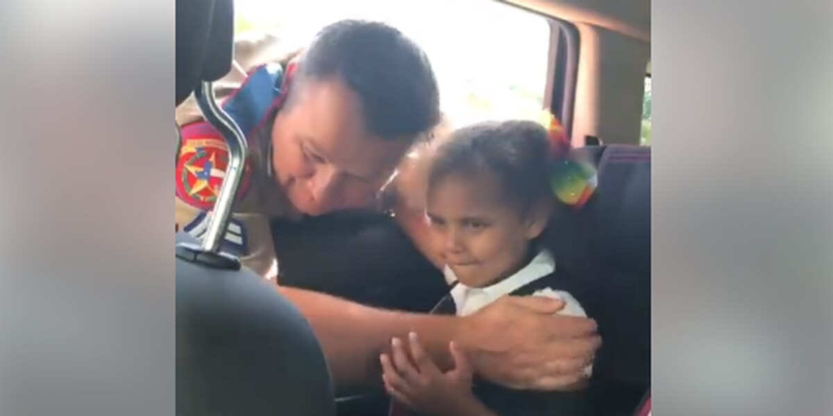 VIDEO: ETX trooper stops 5-year-old girl from crying, 'You don't have to be scared of me'