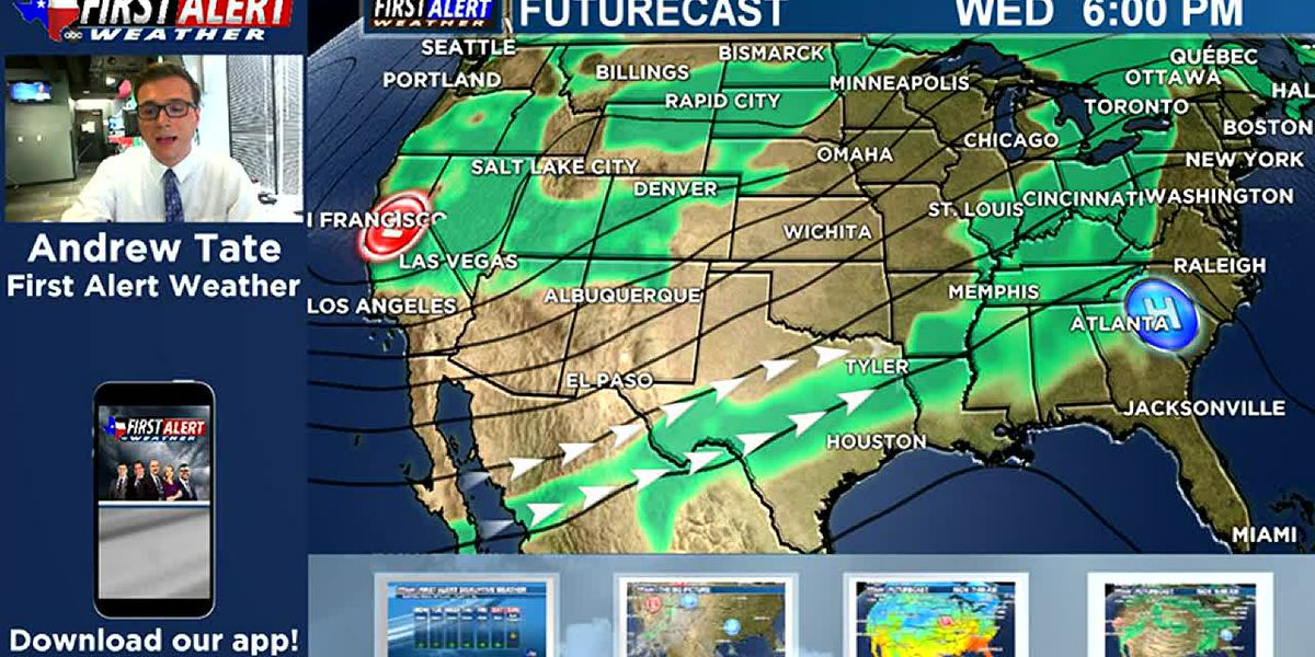 Monday Midday Weather At Your Fingertips