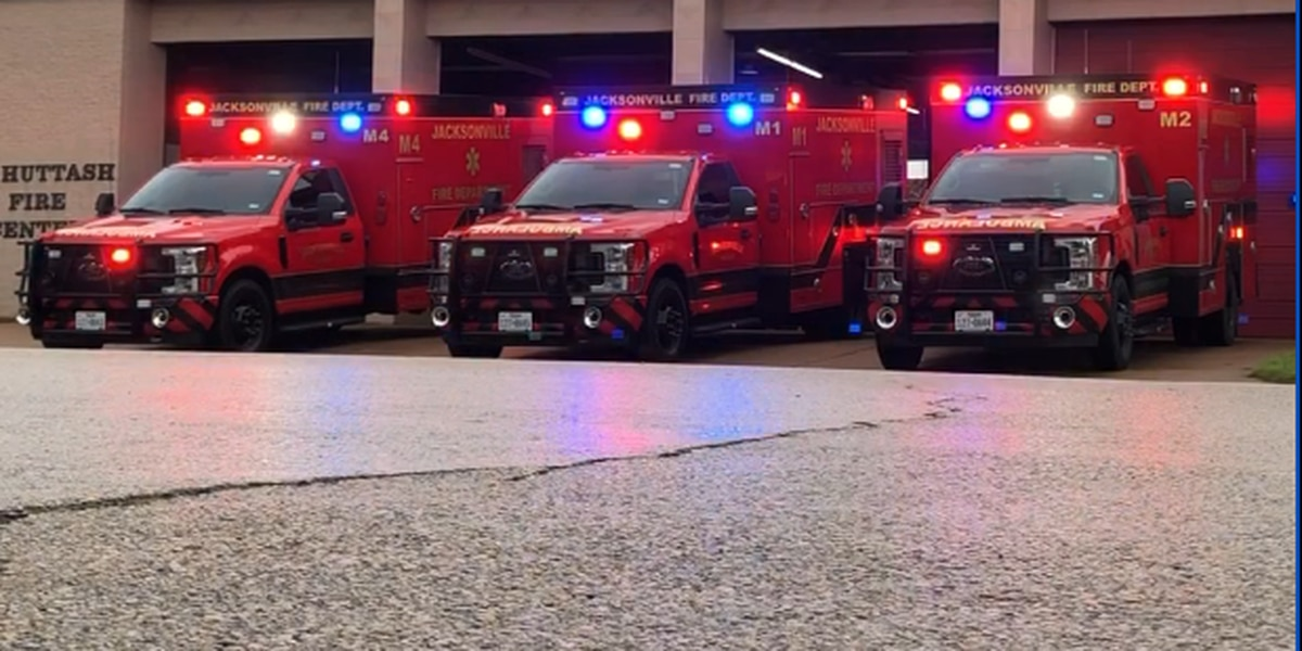 Jacksonville Fire Department unveils 3 new ambulances