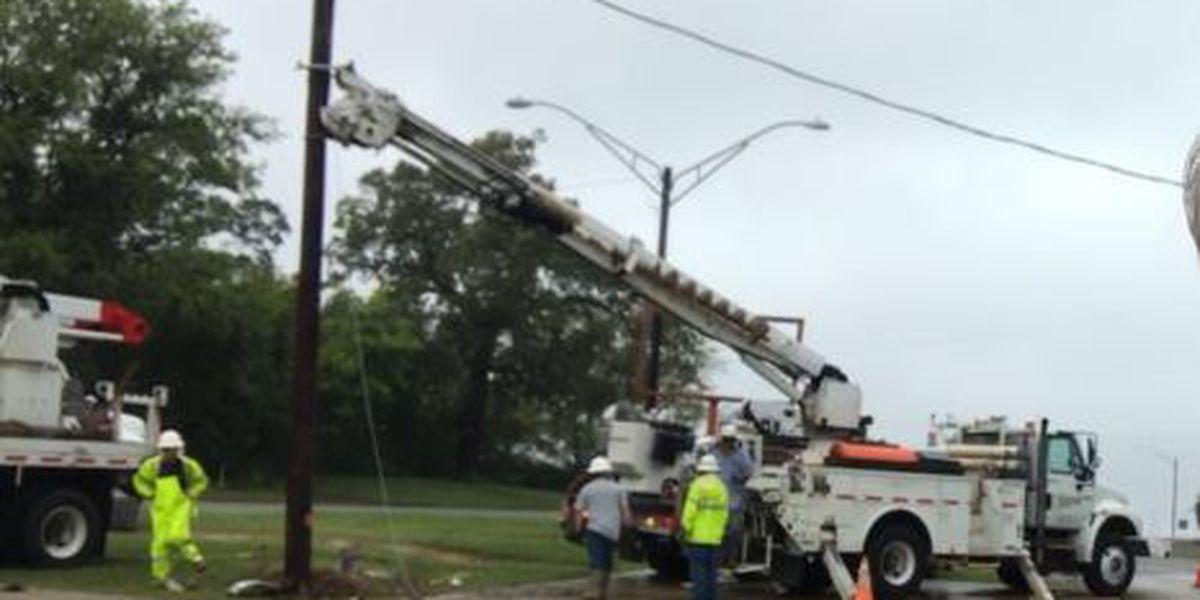 WEBXTRA: Truck hits power pole in White Oak