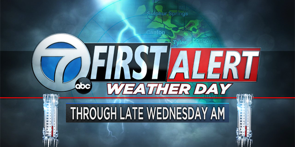 First Alert Weather Days continue through Wednesday morning