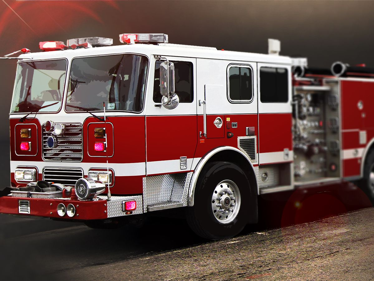 Mutliple area fire departments battling house fire on CR 3228 in Rusk County