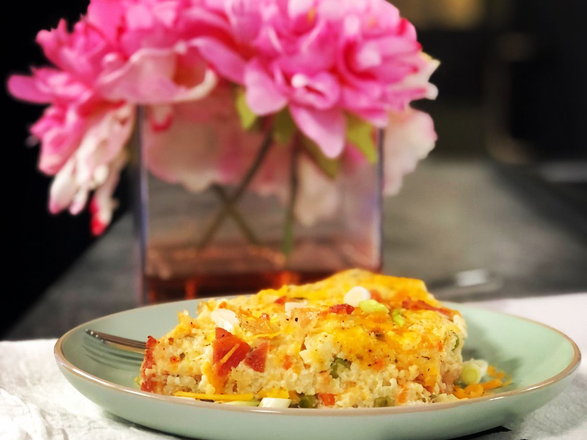 Loaded cauliflower casserole by Mama Steph