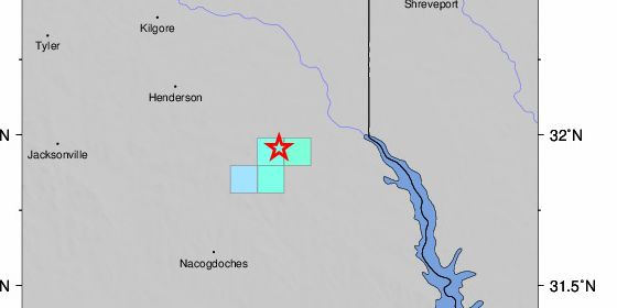 2.5 earthquake reported near Timpson early Monday morning