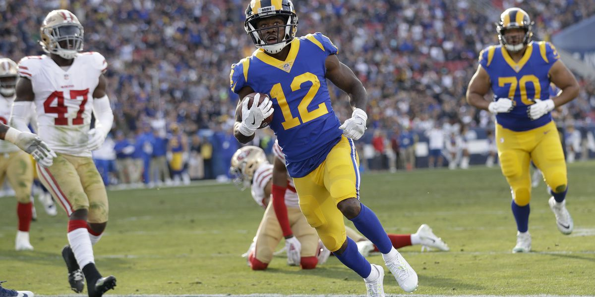 Goff throws 4 TDs, Rams grab bye with 48-32 win over Niners