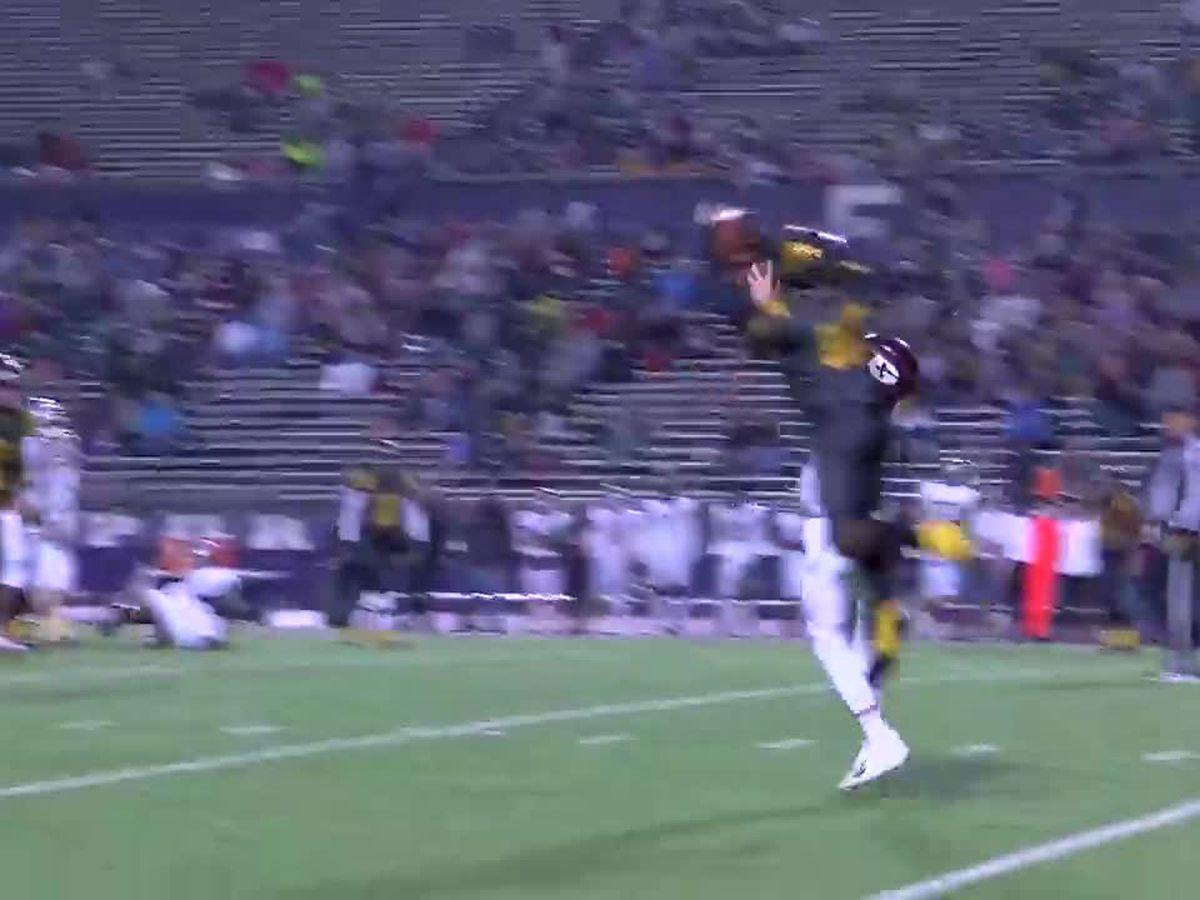 WATCH: Timpson's athletic grab and pick-6