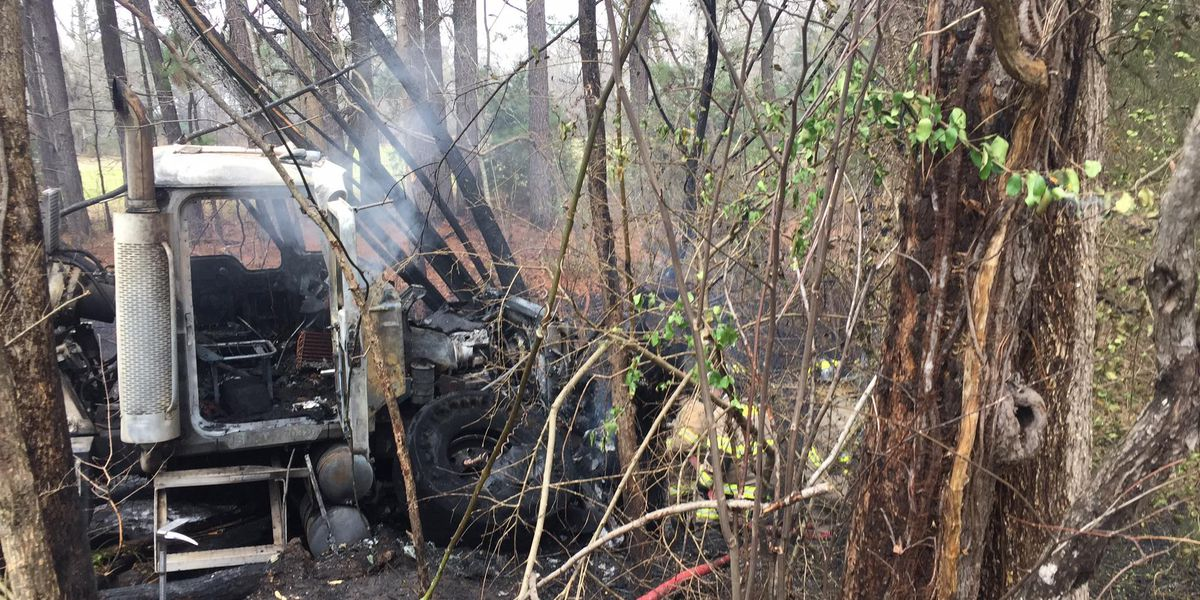 Blown out tire believed to be cause of cement truck fire in Gladewater