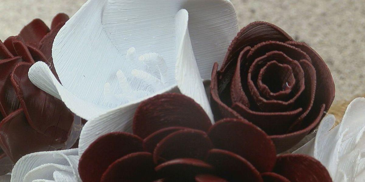 LETU lab technicians crafted their wedding flowers using 3D printer