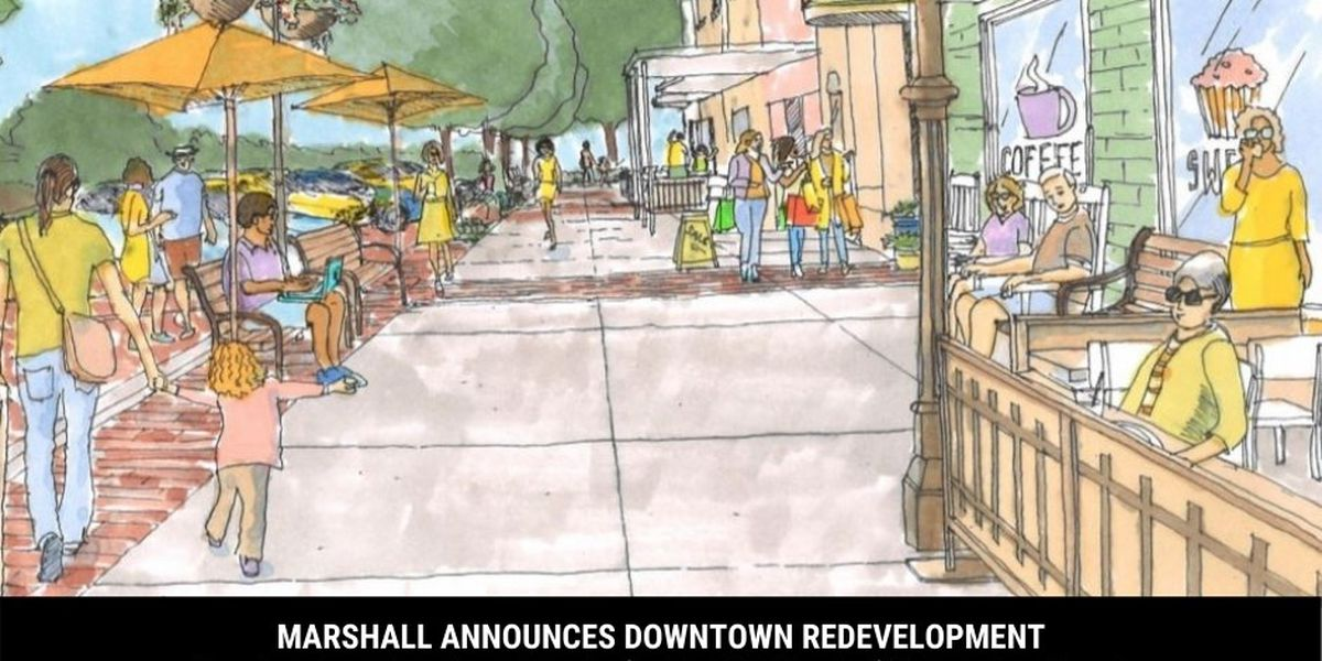 First phase of redevelopment in downtown Marshall to begin Dec. 28