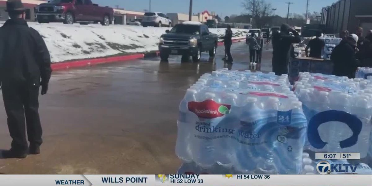 Massive water distribution event was held in Kilgore
