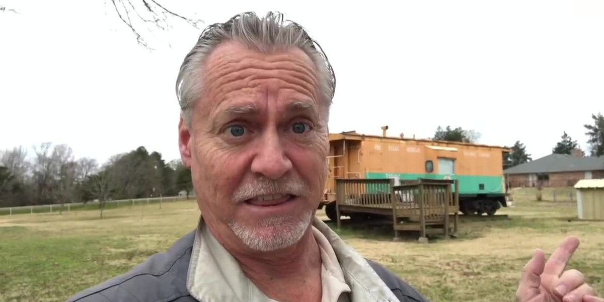Check out the train caboose turned mobile home that's up for sale
