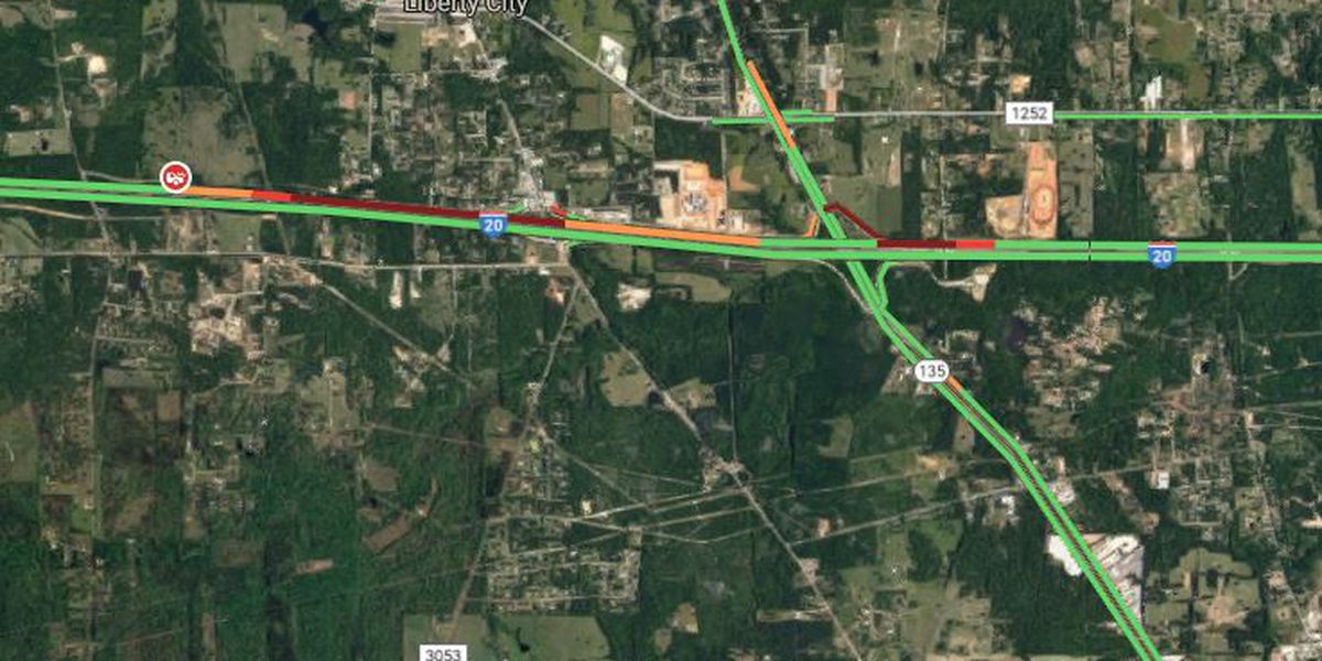 Westbound I-20 reopened after wreck involving overturned truck near Hwy 135