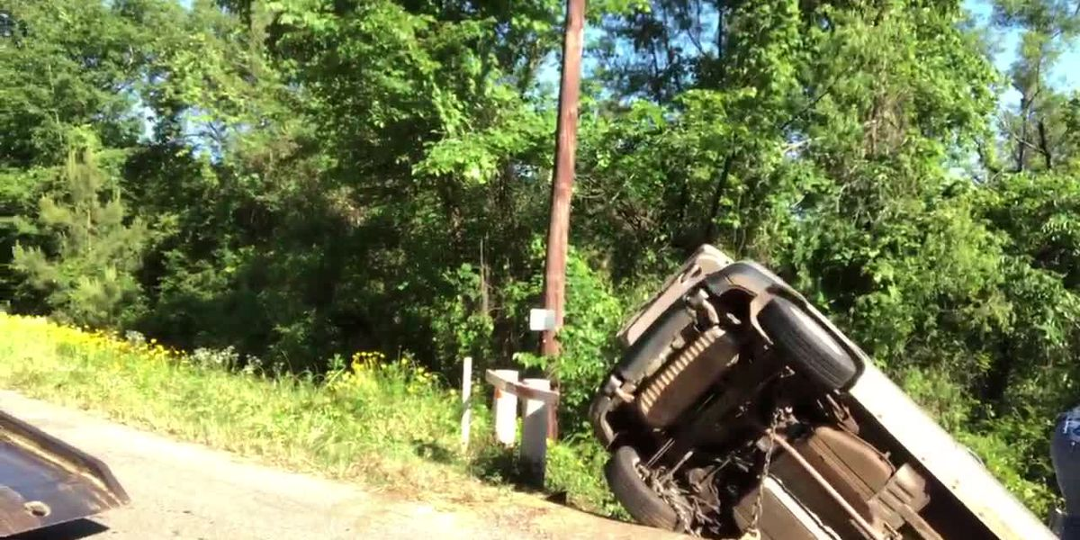 Kilgore Fire and Rescue respond to vehicle accident off a bridge on County Road 1115