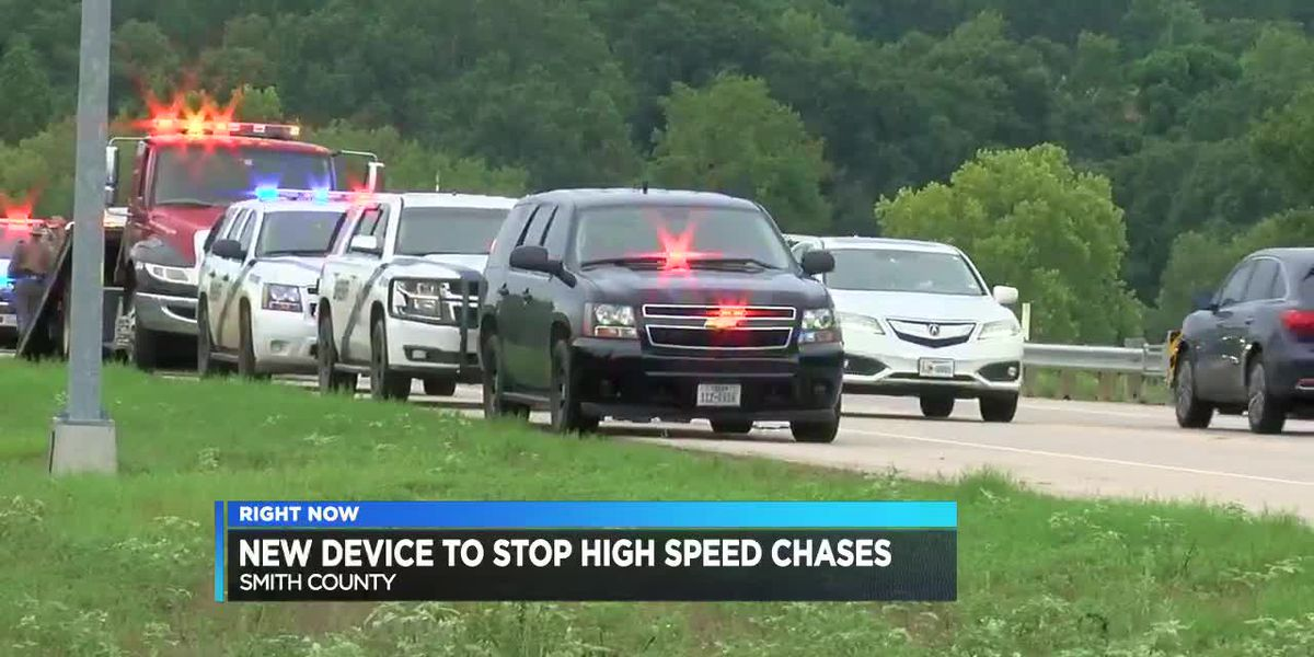 Smith County Sheriff's Office receives Stop Sticks to stop high-speed chases