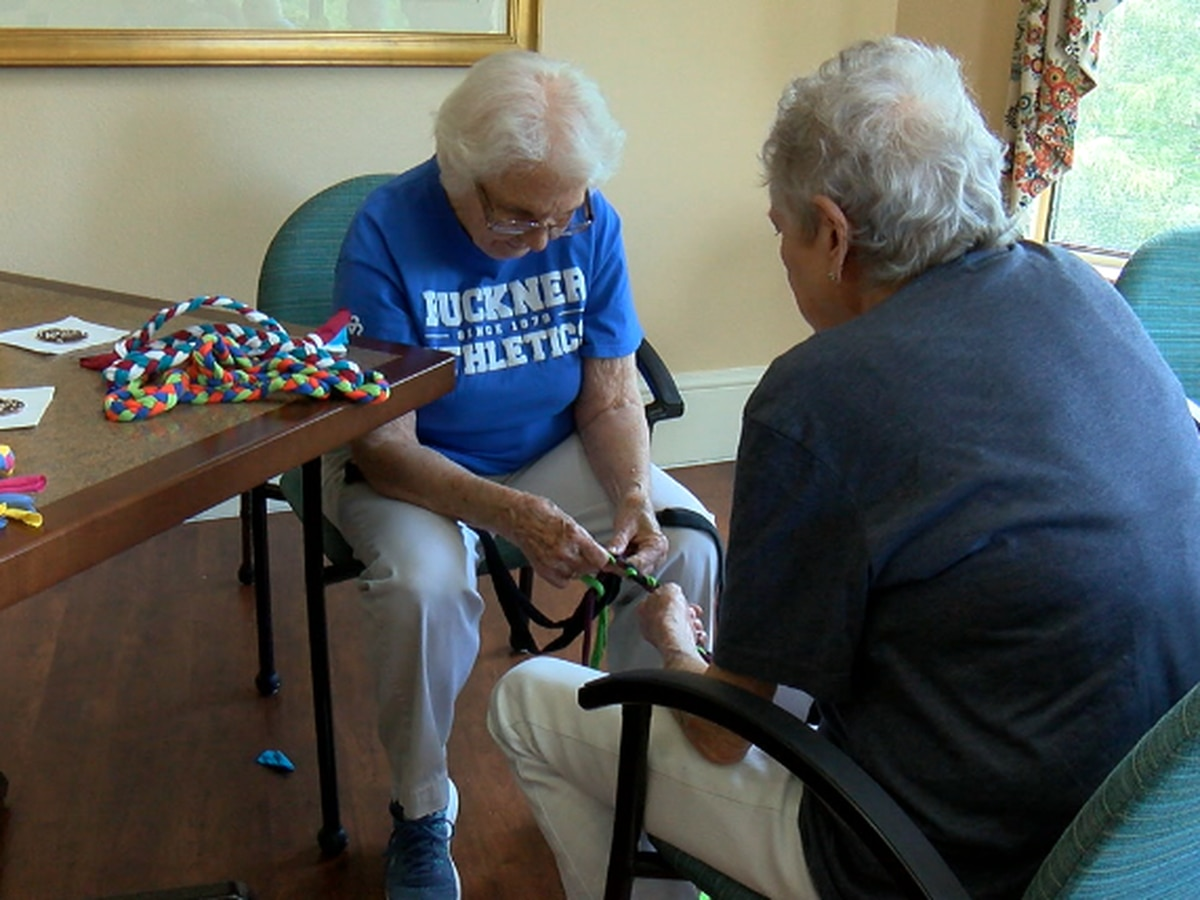 Senior living community in Longview creates handmade jump ropes for foster kids