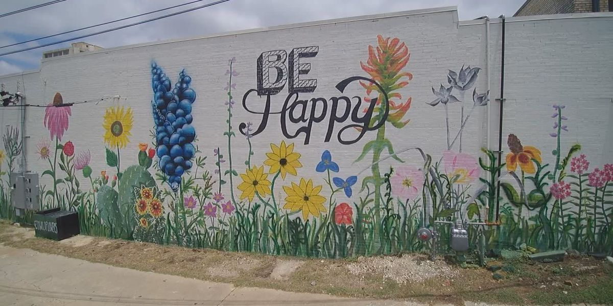 'Be Happy' mural completed in downtown Tyler