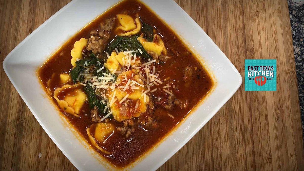 Italian sausage - tortellini soup by Mama Steph