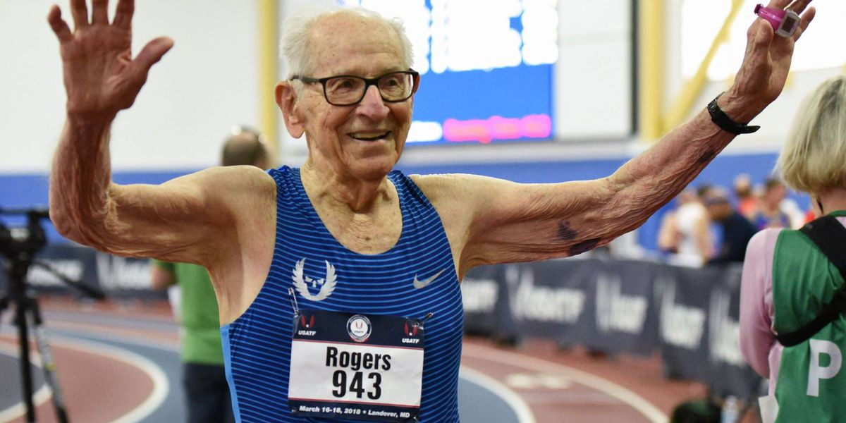 101-year-old 'Running Man' encourages Tyler students to never give up