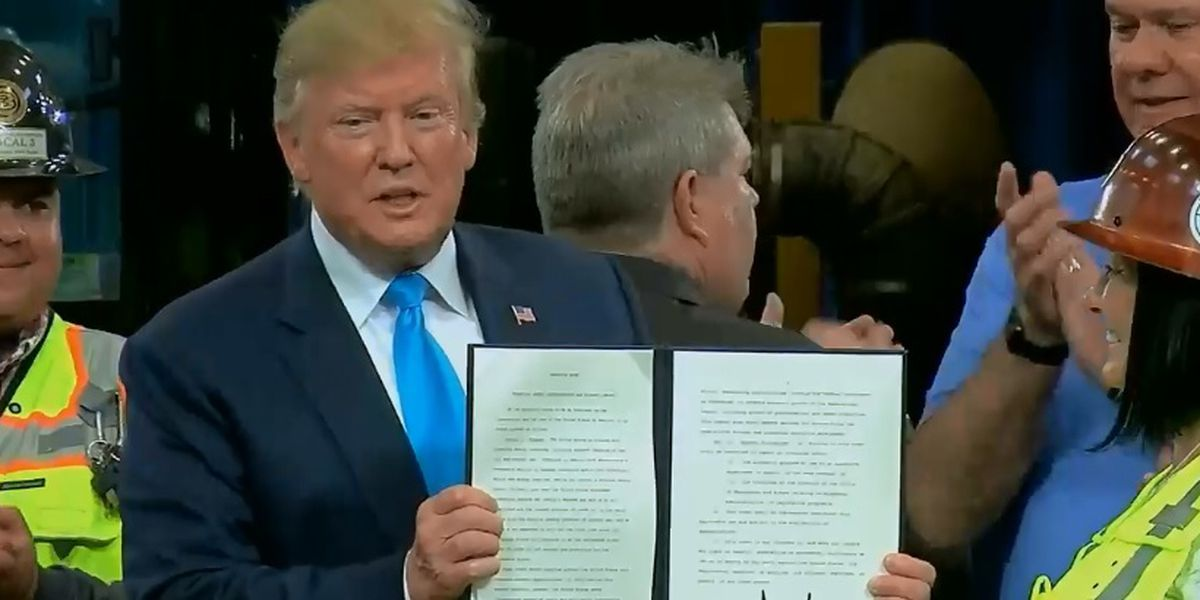 President Trump signs executive action on oil, gas industry