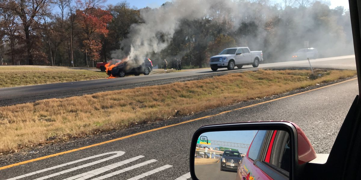 Crews responding after car catches fire in Lindale