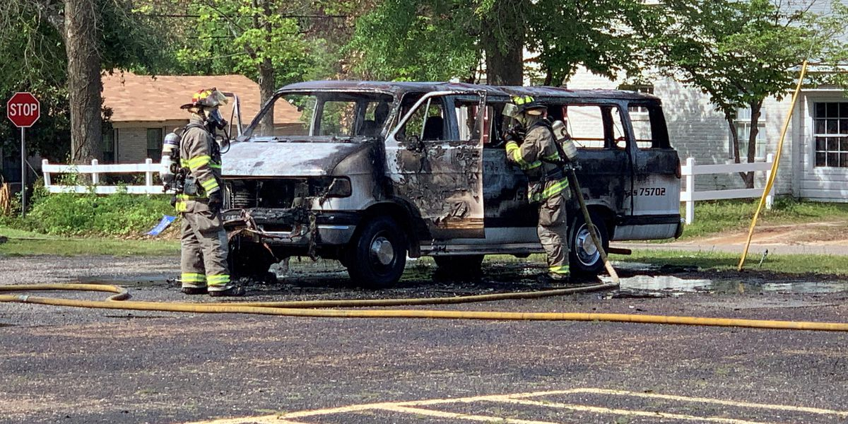 Tyler firefighters extinguish van fire at Dale Chapel Baptist Church