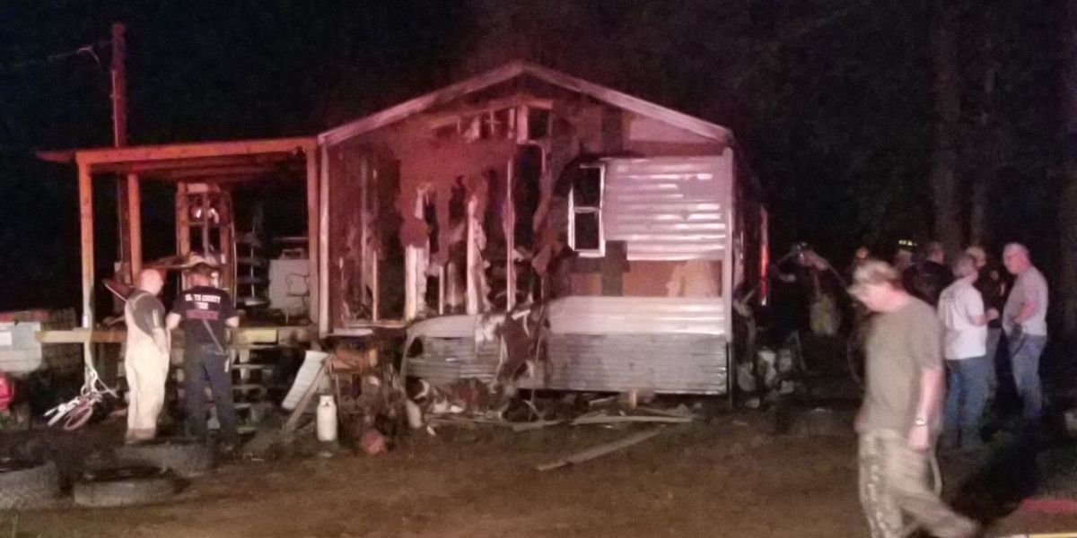 Mobile home fire brought under control by 2 departments