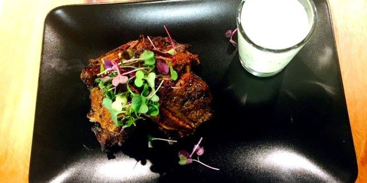 BBQ Asian shortrib with mint yoghurt Lassi - Los Pinos Ranch Vineyards