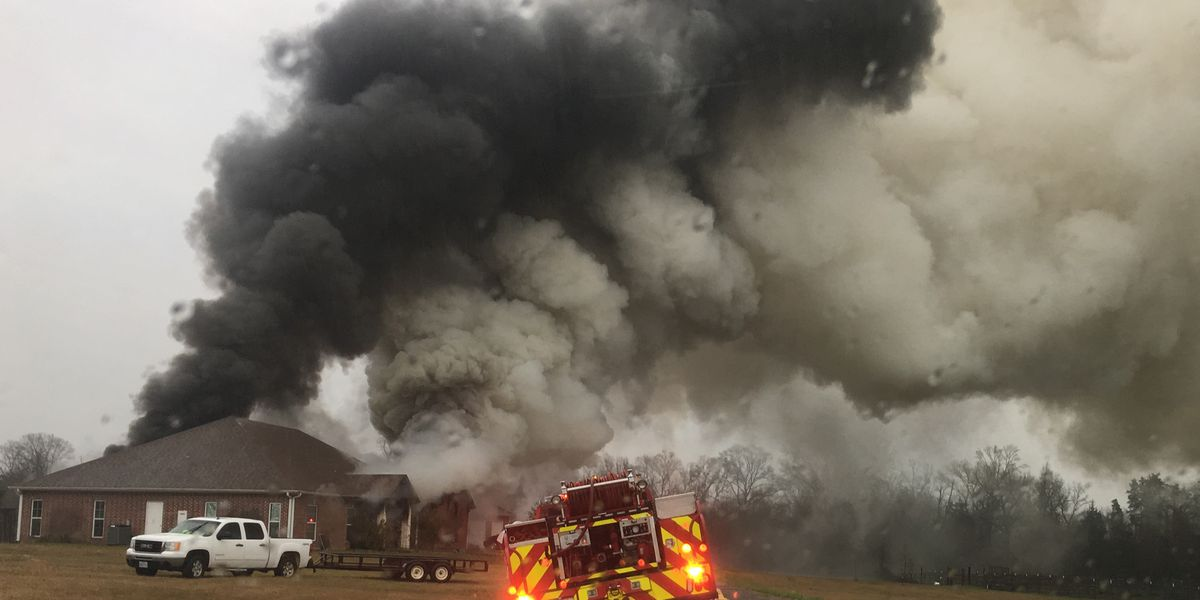 Husband, wife escape fire after lightning strikes home, could not save pet