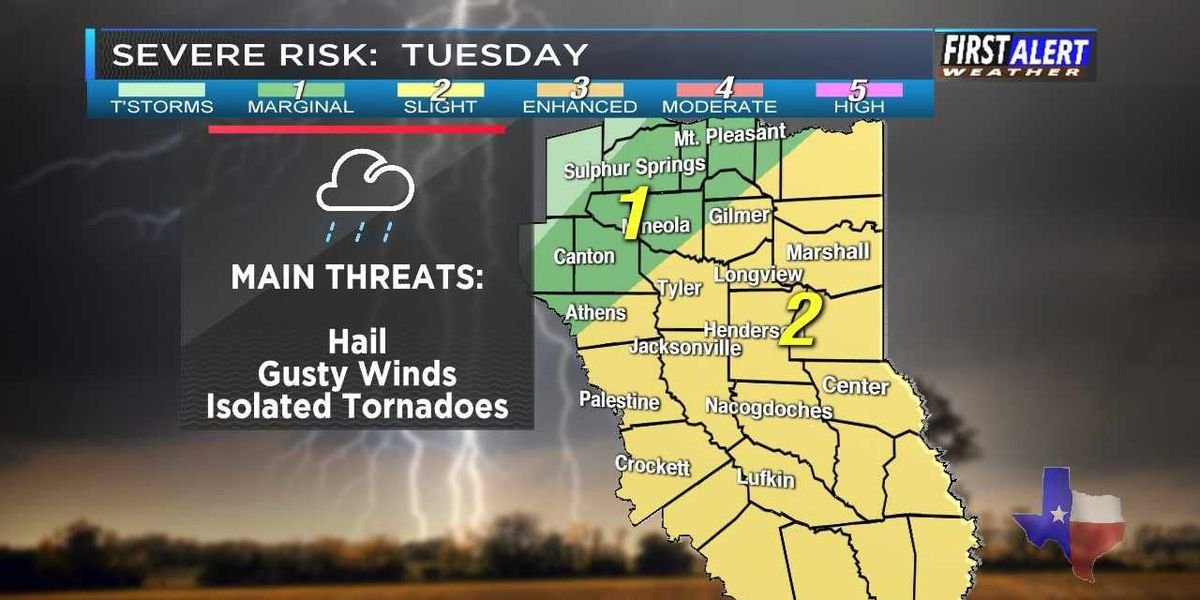 First Alert Weather day issued for Tuesday