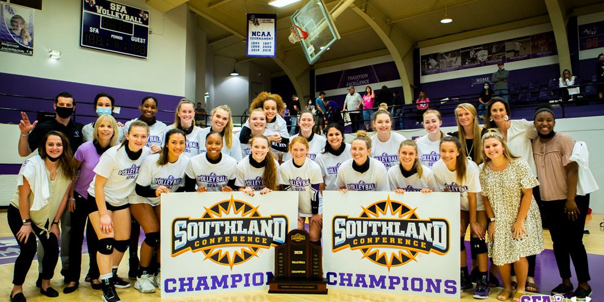 SFA volleyball wins 4th-stright SLC regular season title