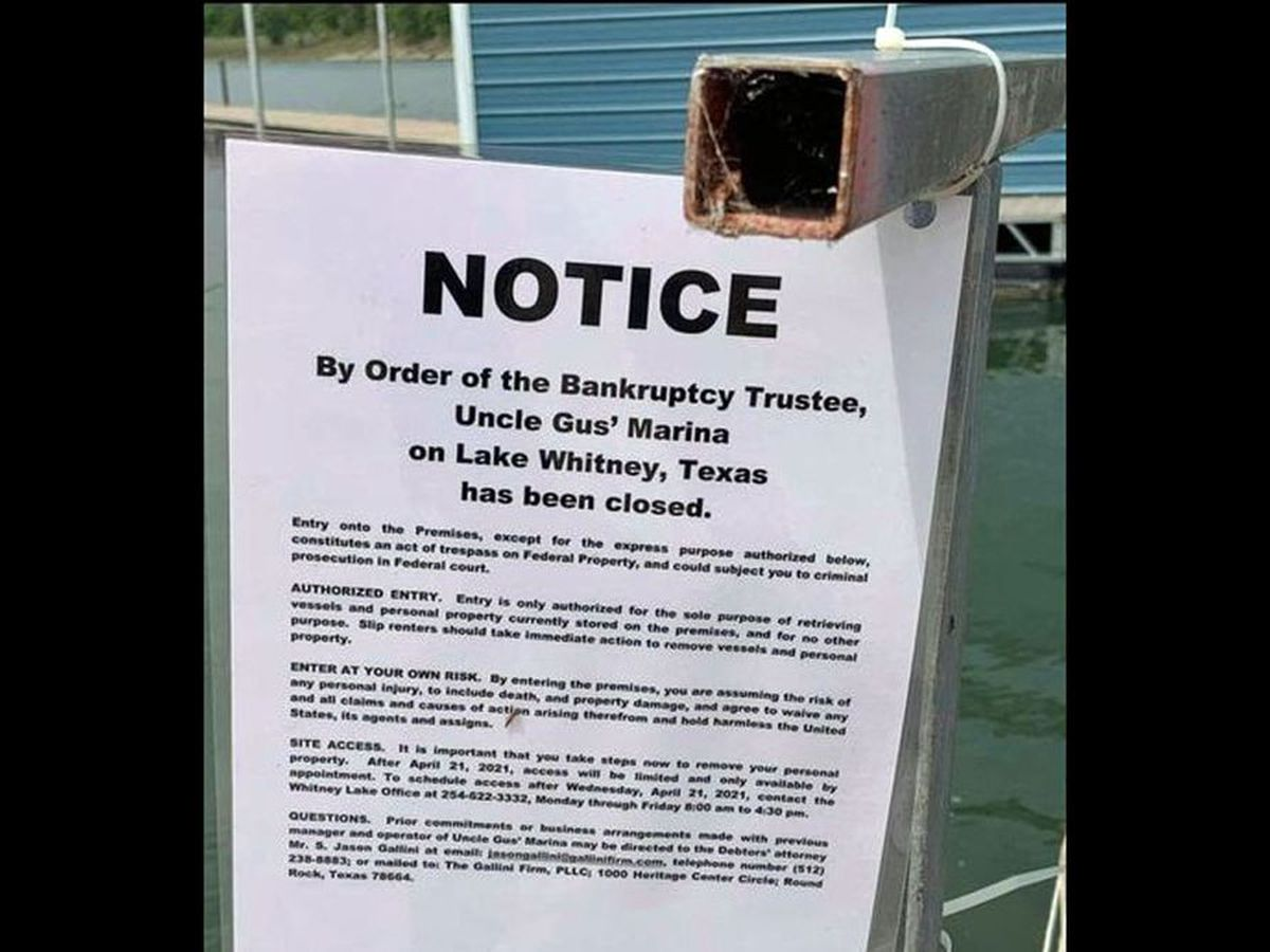 Popular Central Texas marina and resort to close after 70 years following bankruptcy filing
