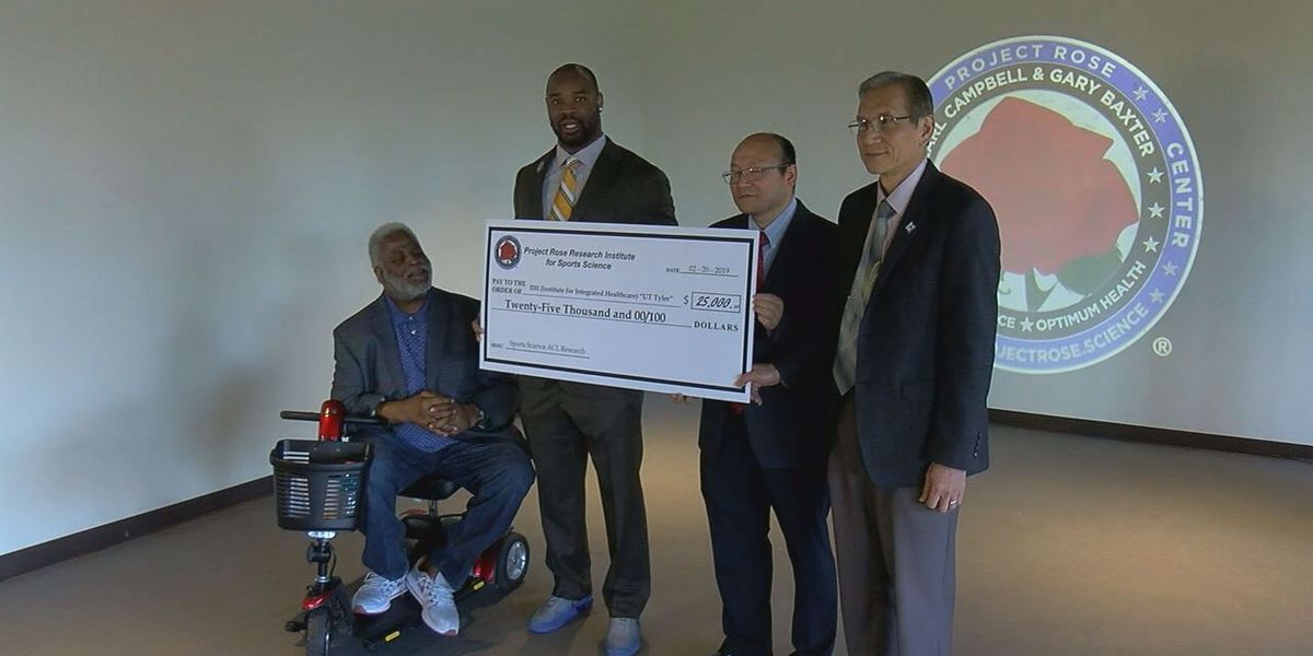 Project Rose Research Institute for Sports Science donates $25,000 to UT Tyler