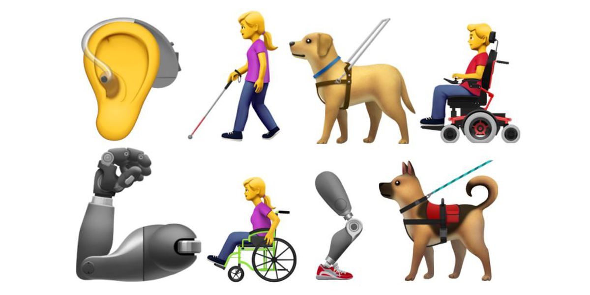 Next batch of emoji includes people with disabilities, guide dog