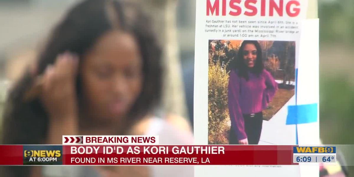 Body found in Miss. River identified as Kori Gauthier