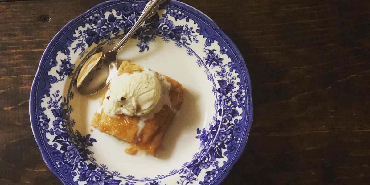 Simple peach cake by Mama Steph