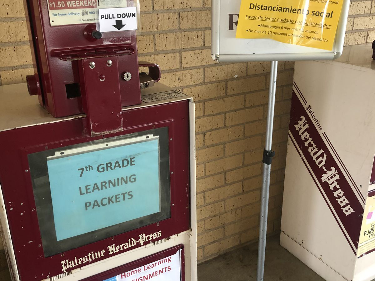 Palestine ISD prepares packets for students to continue at-home studies