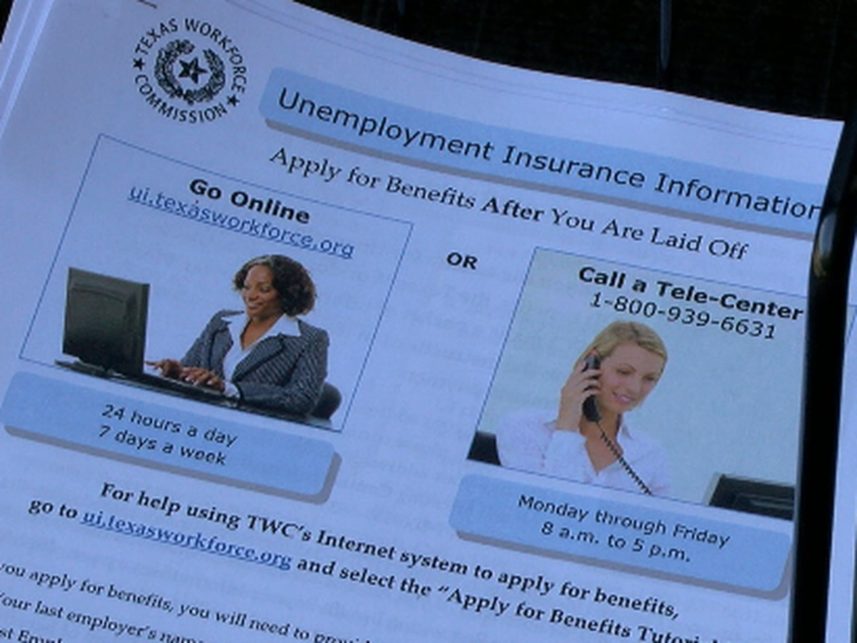 Many Texans experience slow website, backed up phone lines when trying to file for unemployment benefits