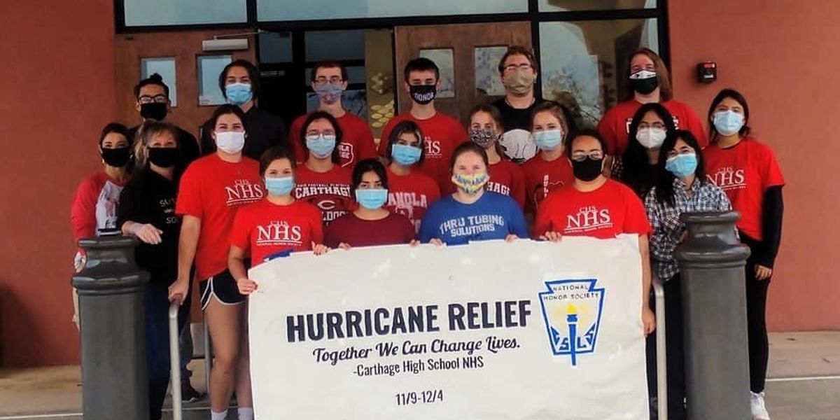 Carthage High School students deliver supplies to SW Louisiana