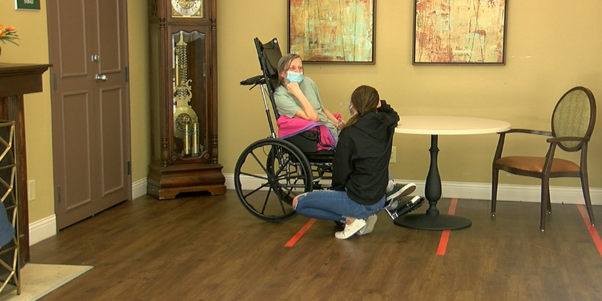Granddaughter visits grandmother in East Texas nursing facility after year of pandemic