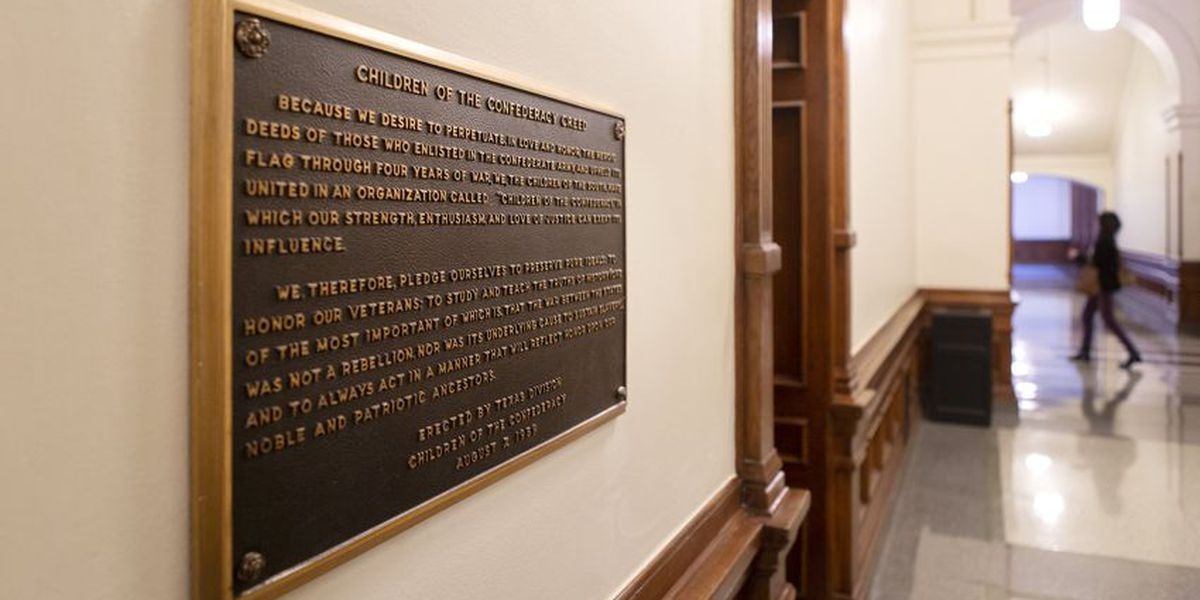 Texas officials vote to remove Confederate plaque that says Civil War wasn't over slavery