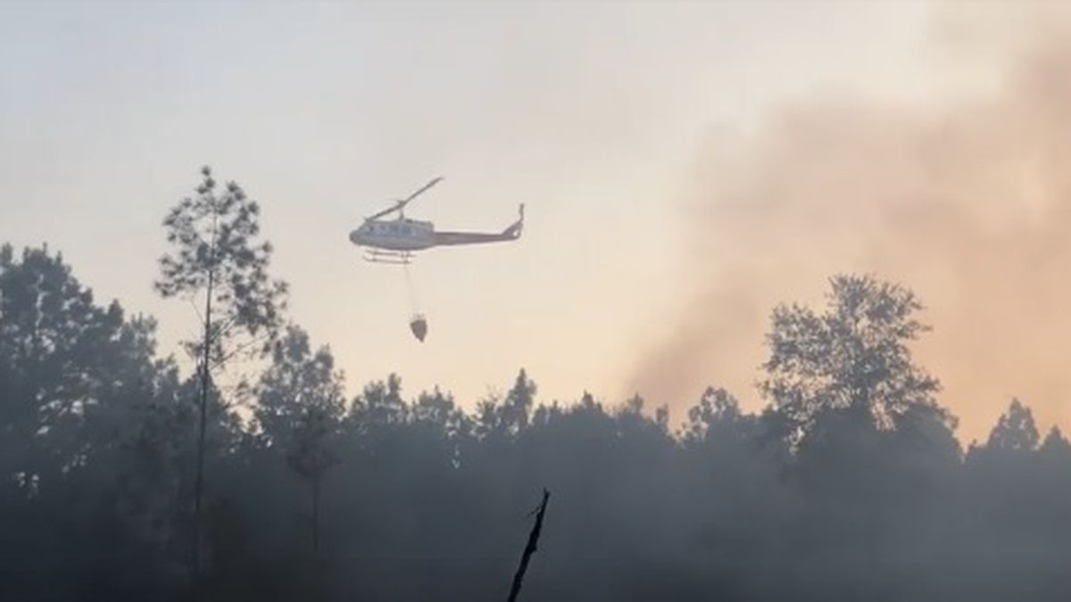 Texas Forest Service, volunteer firefighters at scene of 10 acre wildfire near Big Sandy