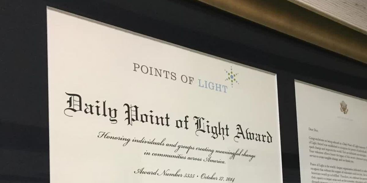 Family honored by Bush's Point of Light Foundation