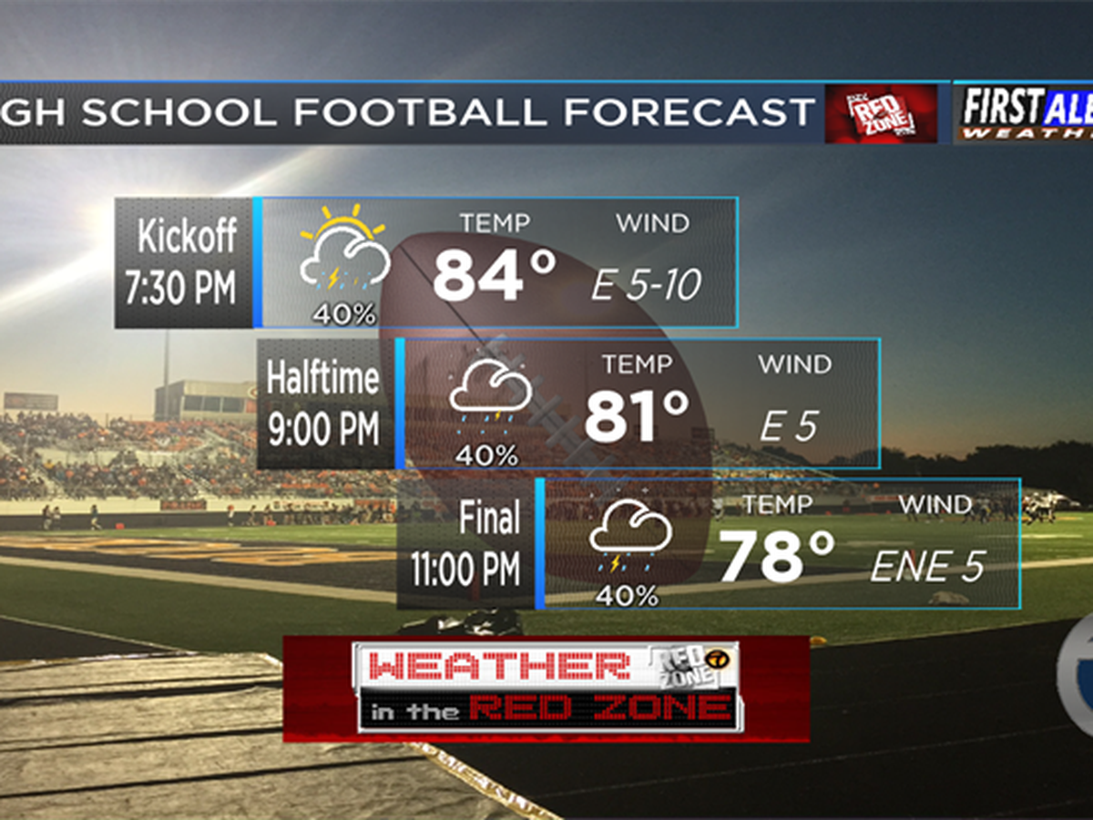 Here's your Red Zone weather forecast for September 14