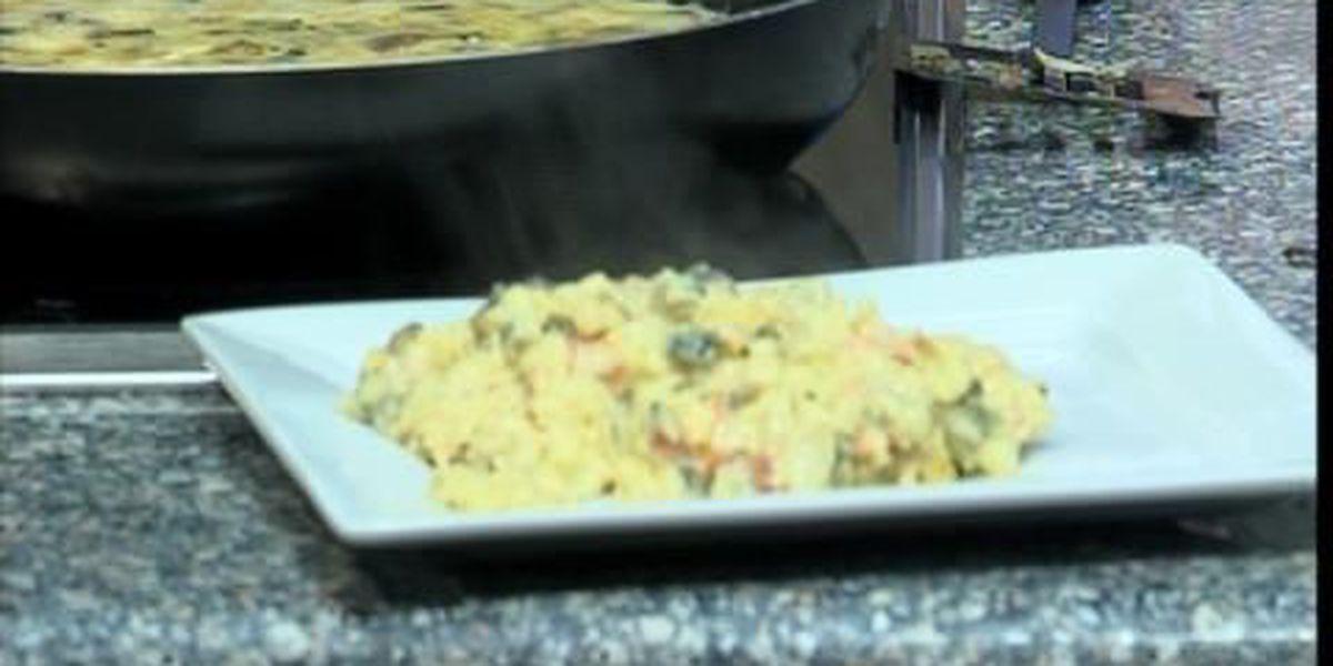 Cheese Poblano Scrambled eggs