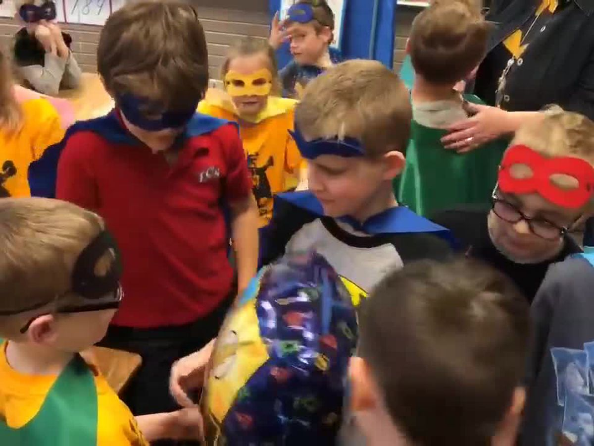 WEBXTRA: 'Zane the Superhero,' friends celebrate his last day of chemotherapy