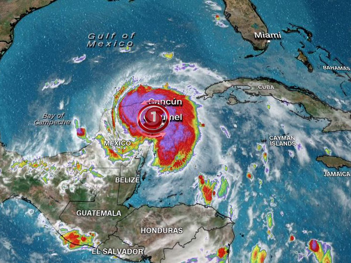 Hurricane Zeta makes landfall in resort zone of Mexico's Yucatan