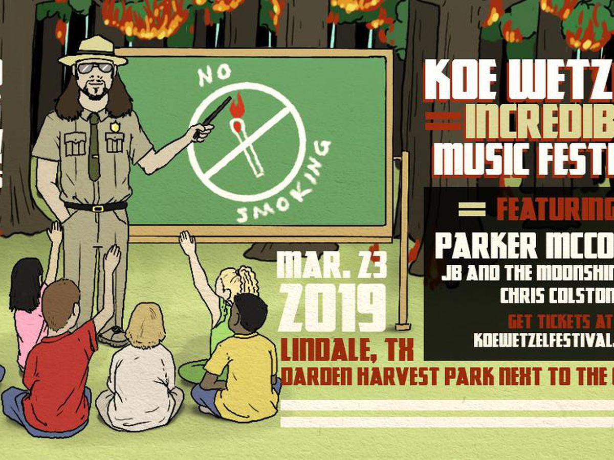 Country singer, ETX native Koe Wetzel announces Lindale music festival