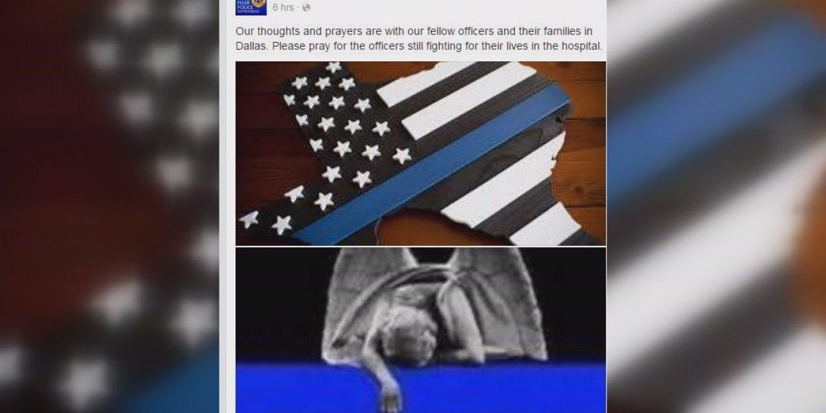 ETX law enforcement takes to social media to support Dallas