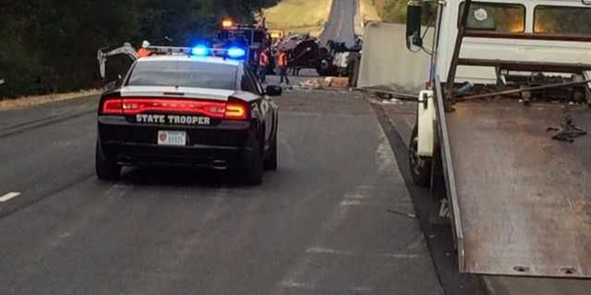 Two drivers taken to hospital after 18-wheeler wreck shuts down I-20 in Harrison County